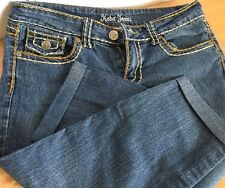 Kaba Jeans Capris Denim Medium Wash Blue Stretch Women Sz 7 Pockets Casual