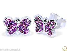 Markenlose Echter Edelmetall-Ohrschmuck ohne Steine aus Sterlingsilber mit Butterfly-Verschluss