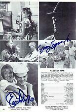 Sissy Spacek & Eric Roberts signed Magazine Page Vintage - Raggedy Man