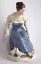 Porzellan Figur Aschenputtel Royal Dux Dekoration Skulptur Mädchen Deko
