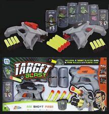 TWO PLAYER TIN CAN TARGET BLAST SHOOTING LIKE NERF GUN GAME - R01-0079