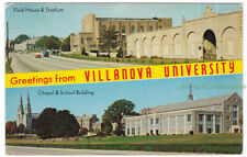 GREETINGS FROM VILLANOVA UNIVERSITY Philadelphia PENNSYLVANIA - c1960 POSTCARD
