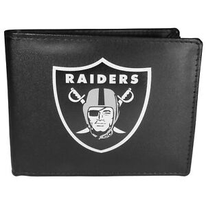 Las Vegas Raiders Leather Bi-fold Wallet, Large Logo