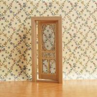 1:12 Scale Dollhouse Miniatures Wood Plain hollow screen door new L7F7