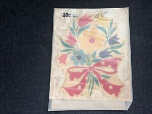 Vintage MEYERCORD DECALS Floral Tulip Bowknot nos unopened 430-B mid century #2