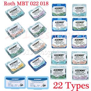 AZDENT Dental Orthodontic Sgl Buccal Tubes 1st 2nd Molar Tube Roth MBT 022 018