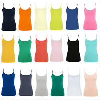 Ladies Womens Girls Stretch Cami Vest Top Adjustable Straps George