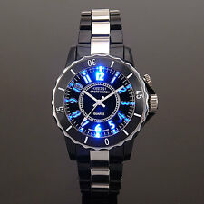 OHSEN Mens Womens 7 Mode Light Sport Military Army Water Proof Quartz Watch