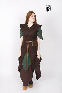 Medieval Tunic Women Wool Elf Warrior /Larp - Braun From Burgschneider