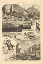 Parsons City KS. Pittsburg, PA. Prairie Chickens For Sale, 1873 Antique Print