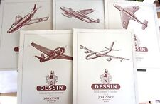 RARE -   5 cahiers DESSIN  VINTAGE  VIERGE - Collection AVIONS -    ref. 510