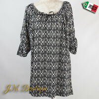 Wolfairy Women's Italian Lagenlook Quirky Boho Tunic Top Blouse Plus Size 18-24