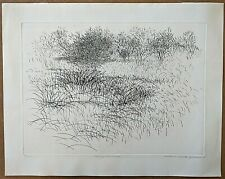 """Richard Claude Ziemann Etching, """"Nearing the Woods"""" 1958, pencil signed"""