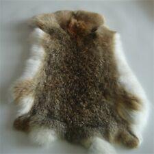 Genuine Naturally Rabbit Fur Skin Tanned Ocelot Leather Hides Craft Pelt 9-14'