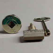 Log Lighter Gas Valve - Straight - With Polished Brass Trim