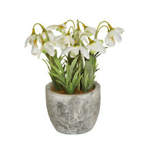 Snowdrops Artificial Flowers in Pot 18cm