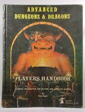 AD&D 2nd Printing Player's Handbook TSR G+ Gary Gygax AD&D (1e and 2e) TSR