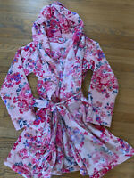 😍 Vera Bradley Hooded Fleece Robe Pretty Posies Pink BCA Valentines Day NWT