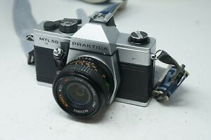 Vintage German Praktica MTL 50 35mm SLR Film Camera 28mm 2.8 Lens