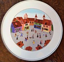 "Villeroy & Boch Design Naif Old Village Square Cake Cookie Plate Platter 11.75"""