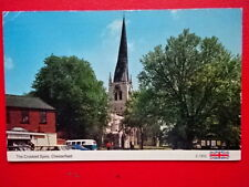 POSTCARD DERBYSHIRE CHESTERFIELD - THE CROOKED SPIRE