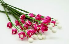 1:12th 30 Mulberry Paper (p) Flowers Dolls House Miniature Flower Garden, Deco