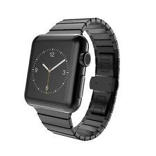 Cinturino BRACCIALE LINK nero fascia per Apple Watch Acciaio Inossidabile 42 mm SERIE 1 2 3