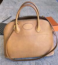 HERMES Bolide 35 gold hardware vintage tote shoulder bag leather yellow