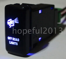 Blue LED OFF ROAD LIGHTS Push Button Switch For Toyota Prado Hilux Landcruiser