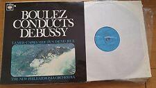 BOULEZ CONDUCTS DEBUSSY NPO - CBS 72533 - LP