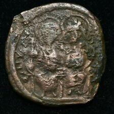 Rare Byzantine Justin Ii & Sophia Coin - Vf Condition - 40 Nummi 30Mm