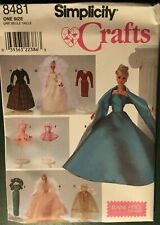 Sewing Pattern: Fashion Doll Gowns, Accessories, WEDDING, EVENING, Barbie, #8481