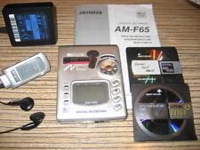 AIWA am-65 ARGENTO Minidisc PLAYER-RECORDER + Sony Walkman alimentatore + 2 TDK MD