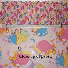 New Walt Disney Princess Belle Snow White Cinderella Valance Curtain Girls Room