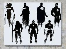 LIGA DE LA JUSTICIA Superhéroes DC Comics caracteres ADHESIVO pared imagen