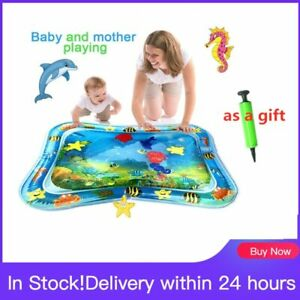 Baby Kids Water Play Mat Infant Tummy Time Playmat Toddler Fun Activity