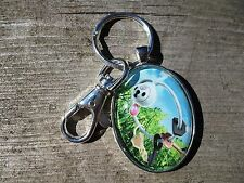 Pokemon Klefki Keychain Trading Card Charm Pendant Glass Necklace Cosplay Mega
