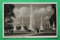 NRW 8) AK Düsseldorf 1937 Hauptfestplatz mit der grossen Fontäne Gebäude