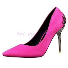 Womens Unique Stiletto Pointed Toe High Heel Slip on Pump Wedding Party Shoes sz