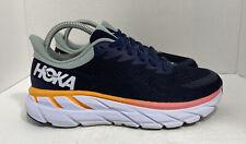 Hoka One One Womens Clifton 7 1110509 BIBH Black Iris Running Shoes Size 7.5