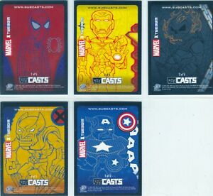 Lot of (100) 2007 Upper Deck Marvel Masterpieces 5 Card Subcasts Insert Set