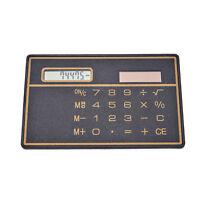 Mini-Kreditkarte Solar Power Taschenrechner Neuheit Travel Compact G3D