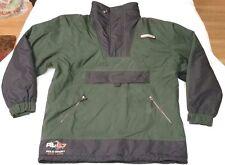 Polo Sport Ralph Lauren pullover 1/2 zip jacket men sz M Sportman green/navy vtg