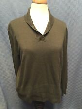 ORVIS SILK / Cashmere BLEND SHAWL COLLAR PULLOVER Sweater SIZE EXTRA LARGE XL