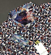 Robert Graham Mens Medium M Faro Long Sleeve Classic Fit Shirt Spread Collar