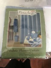Panache For The Bath Fabric Shower Curtain, Enchantment Blue Couture