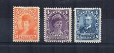 Canada - Newfoundland 1898-1901 3c, 4c and 5c MH