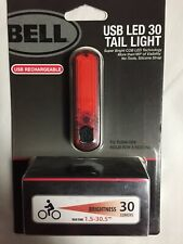 New In Package Bell Usb Led 30 Rechargeable Bicycle Tail Light
