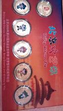 """Beijing 2008,""""Welcome to Beijing""""Commemorative Medallion Set,6 vergoldete Münzen"""