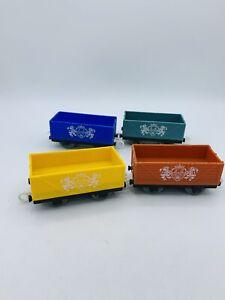 Thomas & Friends Trackmaster Cargo Lot Royal Cargo Cars Orange Blue Yellow Green